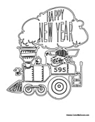 Happy New Year Train
