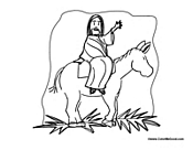 Jesus Rides on Palm Sunday