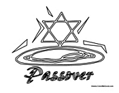 Passover with Jewish Star