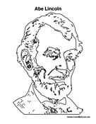 Abe Lincoln Coloring Page