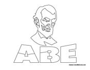 Honest Abe Coloring