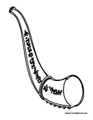 shofar template