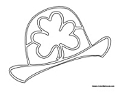 Green coloring pages for Leprechaun hat coloring page