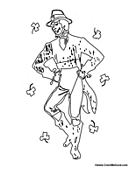 irish people coloring pages - photo#9