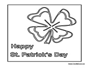 St. Patrick's Day Clover Poster