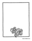 Clover Writing Activity Paper