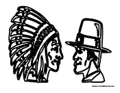 Pilgrim and Native American