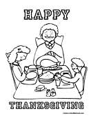 Thanksgiving Coloring Page 1
