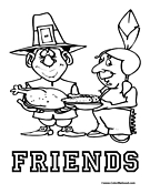 Thanksgiving Coloring Page 4