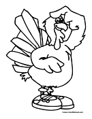 Turkey Coloring Page 01