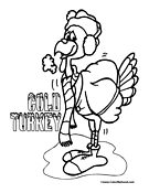 Turkey Coloring Page 02