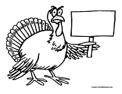 Turkey Coloring Page 03