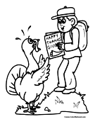 Turkey Coloring Page 04