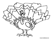 Turkey Coloring Page 13