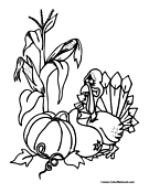 Turkey Coloring Page 14
