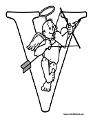 Cupid Coloring Page 1