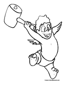 Cupid Coloring Page 5