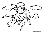Cupid Coloring Page 6