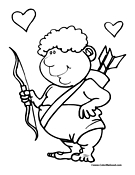 Cartoon Cupid Coloring Page 2