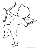 Cupid Cutout Outline Coloring