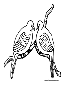 Dove Coloring Page 1
