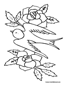 Dove Coloring Page 4