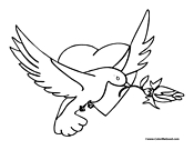 Dove Coloring Page 5