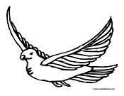 Dove Coloring Page 6