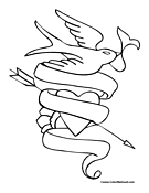 Dove Coloring Page 7