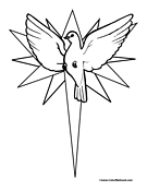 Dove Coloring Page 8