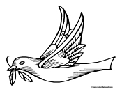Dove Coloring Page 10