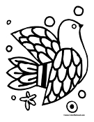 Dove Coloring Page 12