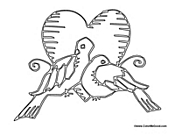 Doves with a Heart