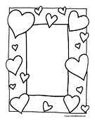 Heart Coloring Page 1