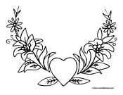 Heart Coloring Page 4