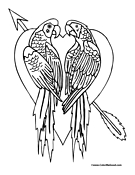 Heart Coloring Page 5
