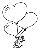 Teddy Bear Heart Balloons