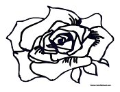 Rose Coloring Page 4