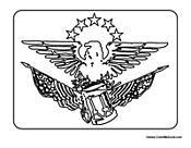 USA Symbol Eagle and Stars