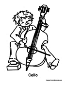 boy playing the cello