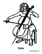 free cello coloring pages - photo#4