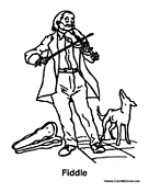Man Playing Fiddle with Dog