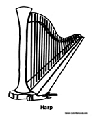 harp coloring pages - photo#18