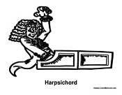 Man Playing Harpsichord