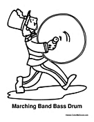 Band Bass Drum Player