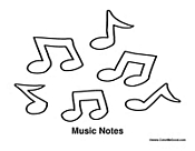 Music Notes to Color
