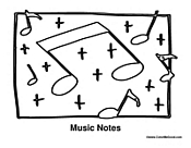 Music Notes for Coloring
