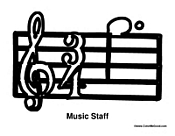 Music Staff Treble Clef