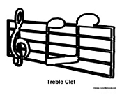 Treble Clef with Notes