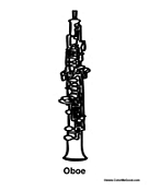 Oboe InstrumentOboe Coloring Pages
